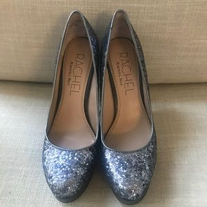 Rachel Roy Glitter Pumps with Spiked Heels